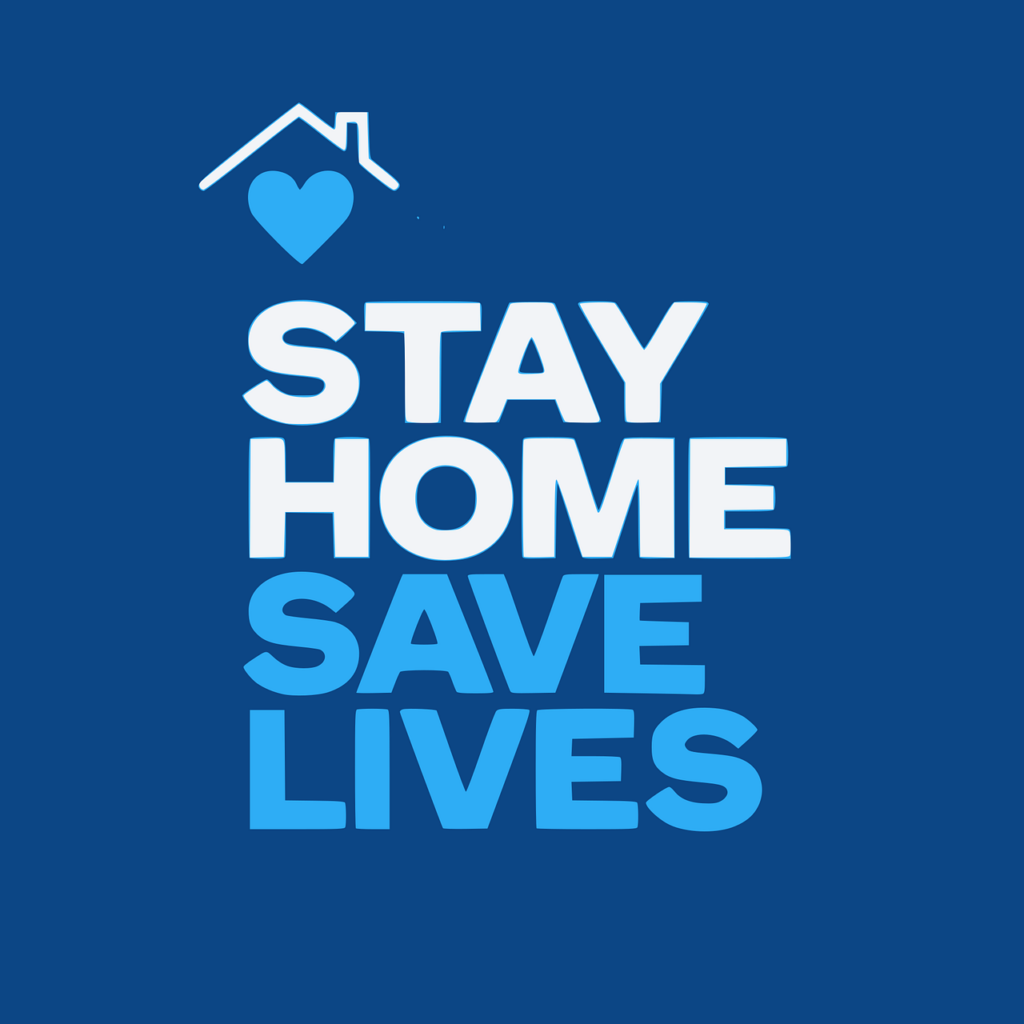 logo stay home save lives